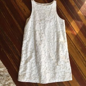 BB Dakota White Lace Floral Dress